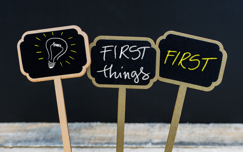 Putting First Things First: YOU!